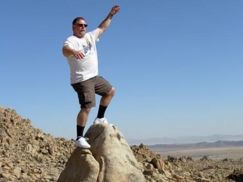 Man on rock