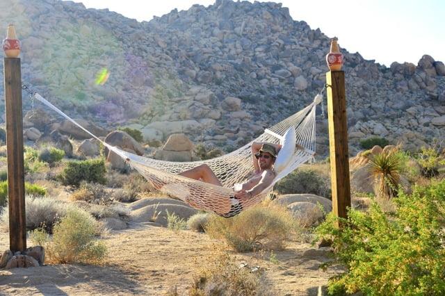 Ethan in hammock